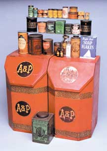 A & P dry food bins and product containers