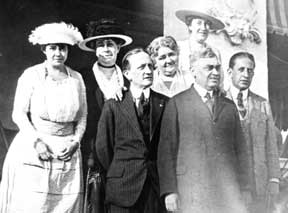 Josephine Wrightson, Josephine Hartford, William B. Reilly, Josephine Reilly, Mabel Stewart, Georg L. Hartford, William Wrightson, Allenhurst N.J. c.1930