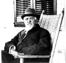 George Huntington Hartford on the porch of The New Monmouth Hotel, Spring Lake, N.J. c.1910