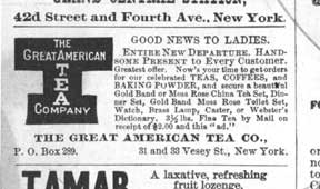 Greta American Tea Company advertisement