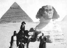 Pauline Hartford traveling in Egypt c.1925